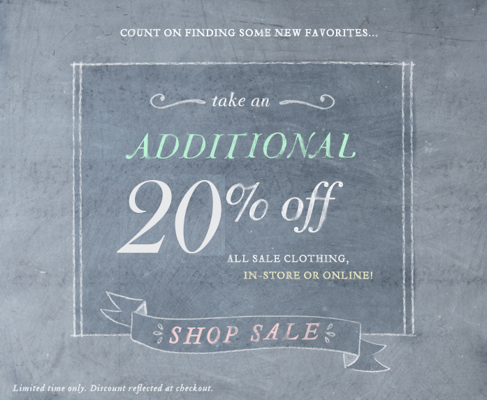 Anthropologie 39 s sale is on sale take an extra 20 off for Online stores like anthropologie