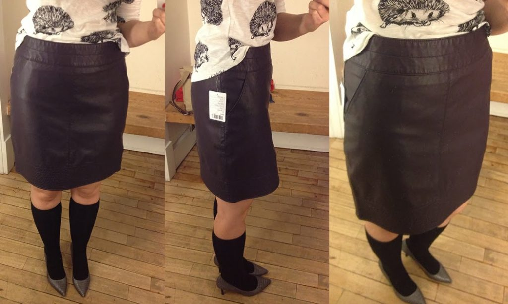 83d4778b3e Reviews: Rosette Skirt, Scalloped Leather Skater Skirt, Vegan ...