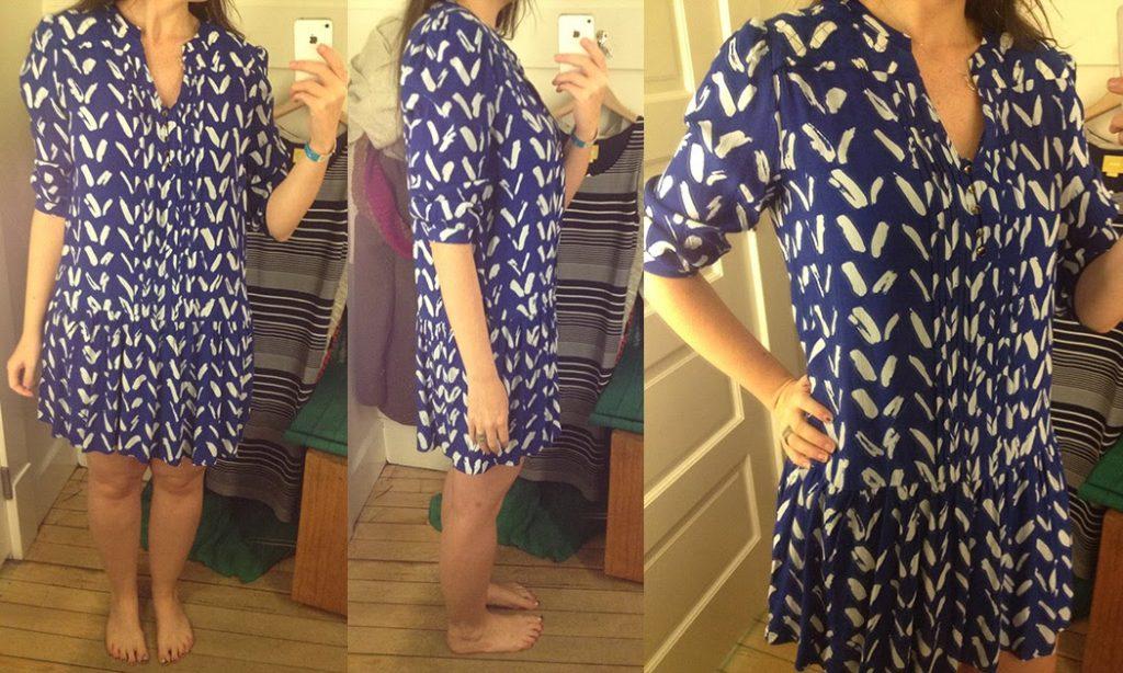 8d42d2d27a24c Caravane Tunic Dress ($128) by Maeve, TTS. Style #: 4130580810065; blue ...