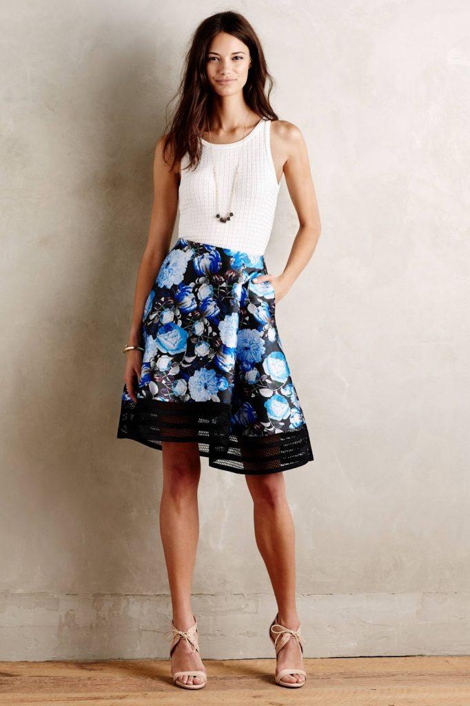 56 Off Anthropologie Dresses Skirts Blue