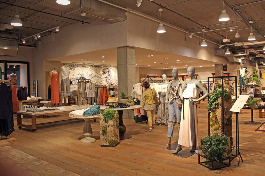 Anthropology clothing store