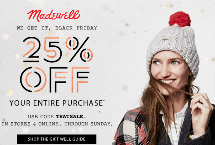 6f97e403bbedb Madewell goes 25% off sitewide for Black Friday -- now ...