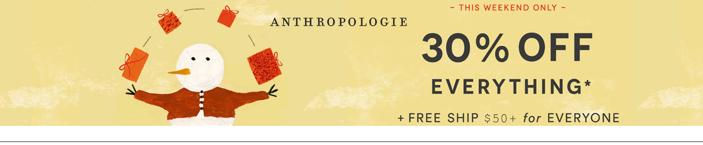 Take 30% off your Anthropologie Purchase this weekend via this link