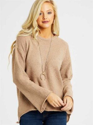 Eversoft Chenille Flare Sleeve Sweater